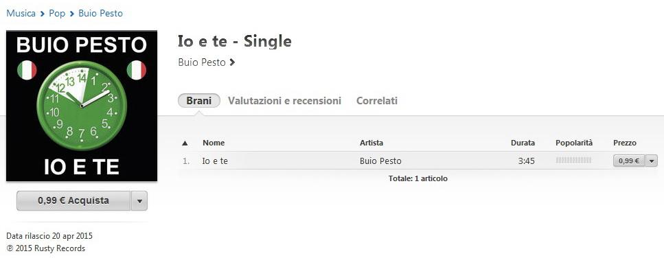 iTunes - Io e Te Web