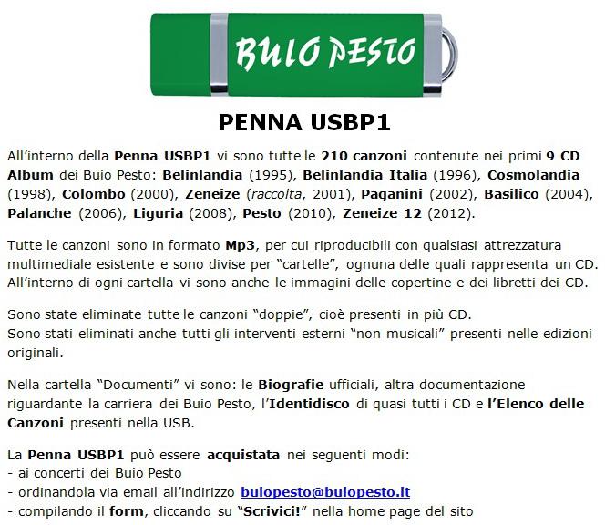 Buio Pesto Lettera USBP1 per Sito