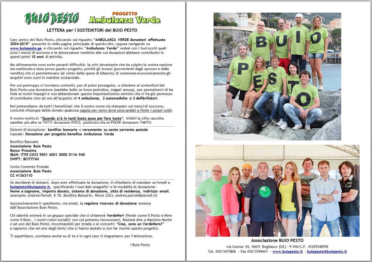 Ambulanza Verde - Sito Lettera 2